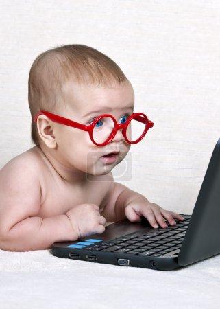 Computer, Überraschung, Interesse, Anstoß, Leben, Kind - B13916368