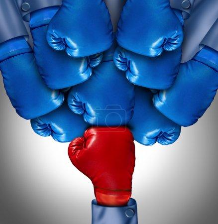 Wettbewerb, Rot, Konzern, Blau, wettbewerbsfähig, konkurrieren - B20169973