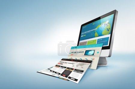 Computer, Hintergrund, Objekt, Illustration, Design, Isoliert - B18177425