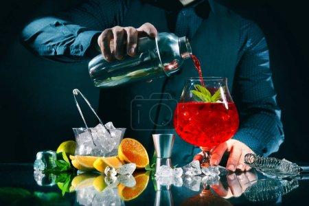 grün, Bar, Kneipe, rot, Nachtleben, Glas - B387741006
