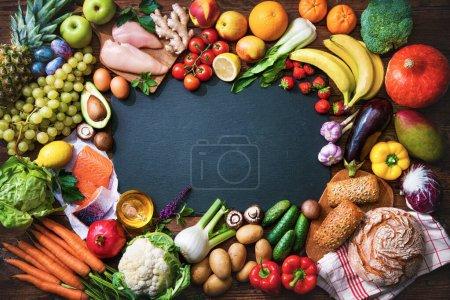 Tisch, Hintergrund, Einkaufen, Supermarkt, Frisch, Gesund - B418384530
