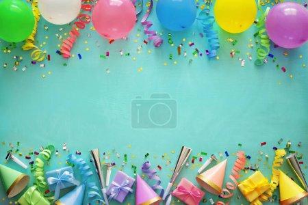 Unterhaltung, Hintergrund, farbenfroh, Geschenk, Geburtstag, Feier - B242182948