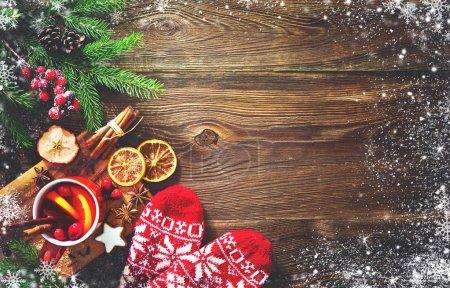 Tisch, rot, Hintergrund, Glas, Feier, Weihnachten - B219966210