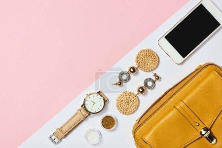 gelb, weiß, Objekte, Hintergrund, niemand, Tasche - B241905236