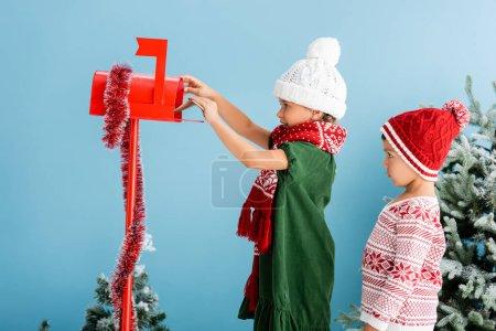 Blau, Isoliert, Weihnachten, Dekoration, dekorativ, Veranstaltung - B407762278