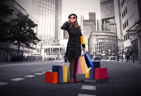 farbe hintergrund einkaufen tasche schoen verkauf