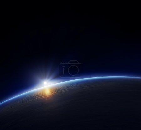 Sphäre, Licht, Blau, Hintergrund, Rendern, Aussicht - B4958937