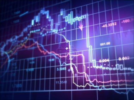 Geld, Unternehmen, Finanzen, Markt, Daten, Nach unten - B70144619