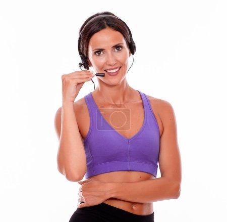 sport, abgeschnitten, Schön, glücklich, Weiblich, lächelnd - B112439712