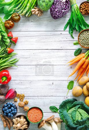 Tisch, grün, Hintergrund, Markt, Frisch, Blatt - B458513514