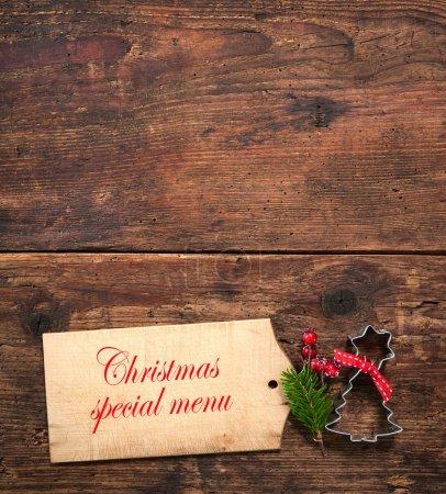 Tisch, rot, Hintergrund, eingestellt, Feier, Weihnachten - B82638606