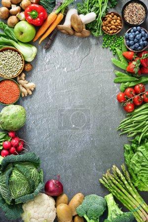 Tisch, grün, Hintergrund, Markt, Frisch, Blatt - B458513776