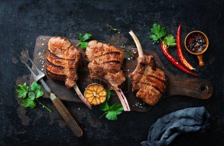 Rot, Hintergrund, Frisch, Rindfleisch, Fleisch, Messer - B460764524