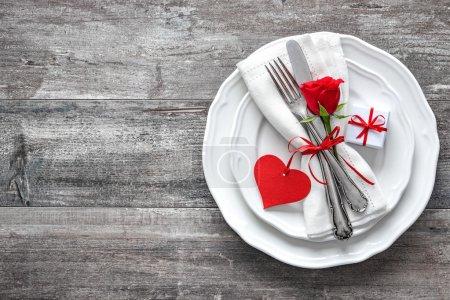 Tisch, rot, Hintergrund, eingestellt, Geschenk, Jubiläum - B94537142