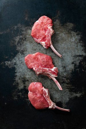 Rot, Hintergrund, Frisch, Rindfleisch, ungekocht, Fleisch - B460764420