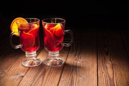 Tisch, rot, Hintergrund, farbenfroh, Glas, Feier - B88794156