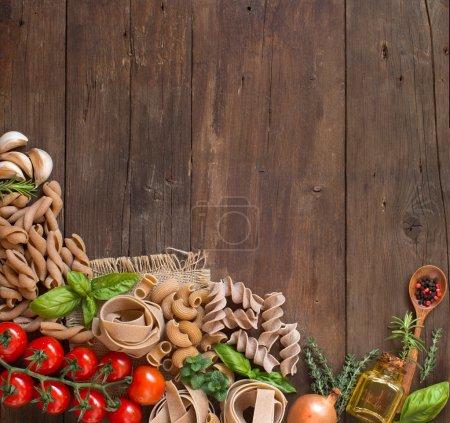 Tisch, grün, rot, Hintergrund, Frisch, Kräuter - B90771144