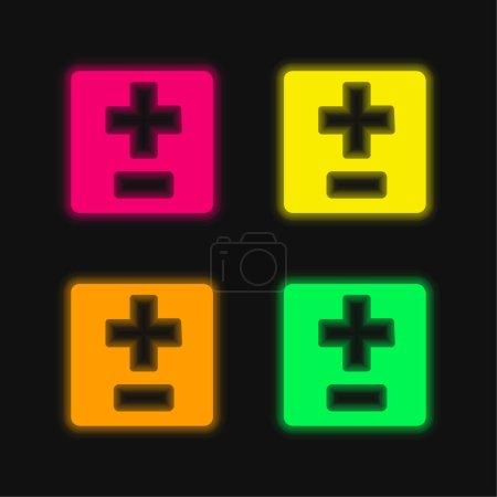 grün, Rot, Gelb, Vektor, Symbol, Nacht - B470868736