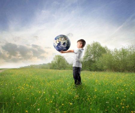 grün, auf, Himmel, Unternehmen, kaufen, Halten - B3857837