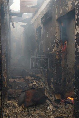 Risiko, Licht, Gefahr, Rauch, Gebäude, Verbrennen - B2741530