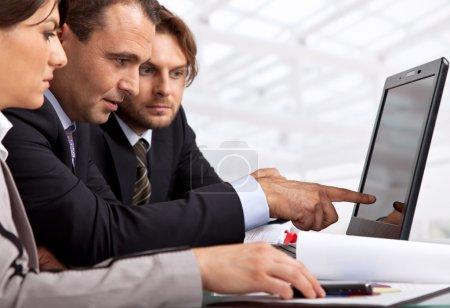 gruppe weiss computer auf entwerfen geschaeft